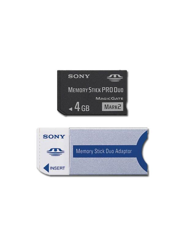 Memory Stick PRO Duo 4GB Card with Adapter -
