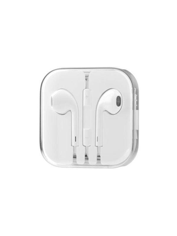 EarPods headphones with remote, mic and case - EarPods type headphones compatible with iPhone, iPad and iPod with remote and mic. They fit all types of ears while held in place. The quality of these EarPods is comparable to the high end headphones but costing much cheaper. With the remote you can adjust volume, control music and video playback, and answer or end calls. Includes box for storage and transportation with the cord coiled.