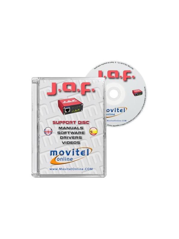 Disco de Soporte para JAF Box y PKey con Manuales, Software y Videos - Disco desarrollado integramente por nuestro departamento técnico con instrucciones detalladas y manuales completos para la instalación de su producto. Incluye también todo el software y drivers necesarios, así como videos explicativos de procesos reales!