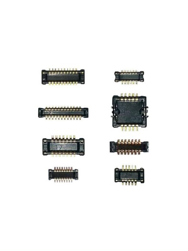 JTAG Molex head socket connectors for soldering [8 in 1 Set] - Set of Molex male socket head connectors by MOORC in SMD format for solder into pcb valid for the handset models that have no Molex male connector soldered into the pcb from factory. They are used for repair and revive dead boots on phones and tablets from Samsung, LG, HTC, Huawei, ZTE, ... and even Apple Mac computers and MacBook laptops pcboards.  Compatible with JTAG boxes with 20 pin connector as the RIFF Box, ORT (Omnia Repair Tool), Z3X Easy JTAG Box, EPR Box, GPG JTAG Pro, Medusa Box (using RJ45  20 pin adapter), etc ...