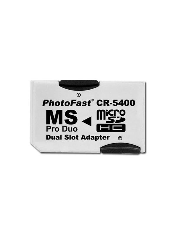 Adaptador para usar tarjetas microSD en aparatos que usan Memorias Memory Stick PRO Duo -