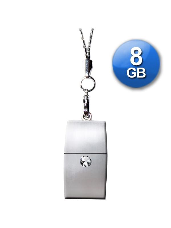 Exclusive DIAMOND 8 Go USB 2.0 Pendrive + Pendant + Metal Gift Box - Stylish design, extra thin, wearable and timeless, super small size and weight! Impressive finishing and presentation! The photos do not do justice to the high quality of the product! Ideal for gifts of any kind since it includes a nice aluminum case!
