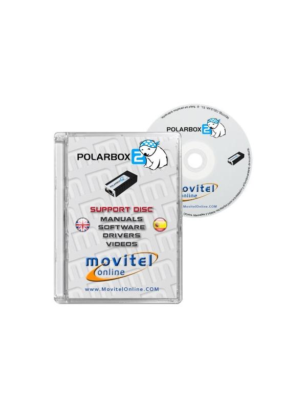Polar Box Support Disc with Manuals, Software and Videos - Disc entirely developed by our technical department with detailed instructions and complete manuals for the installation of your product. It also includes all the software and necessary drivers, as well explanatory videos of real procedures!
