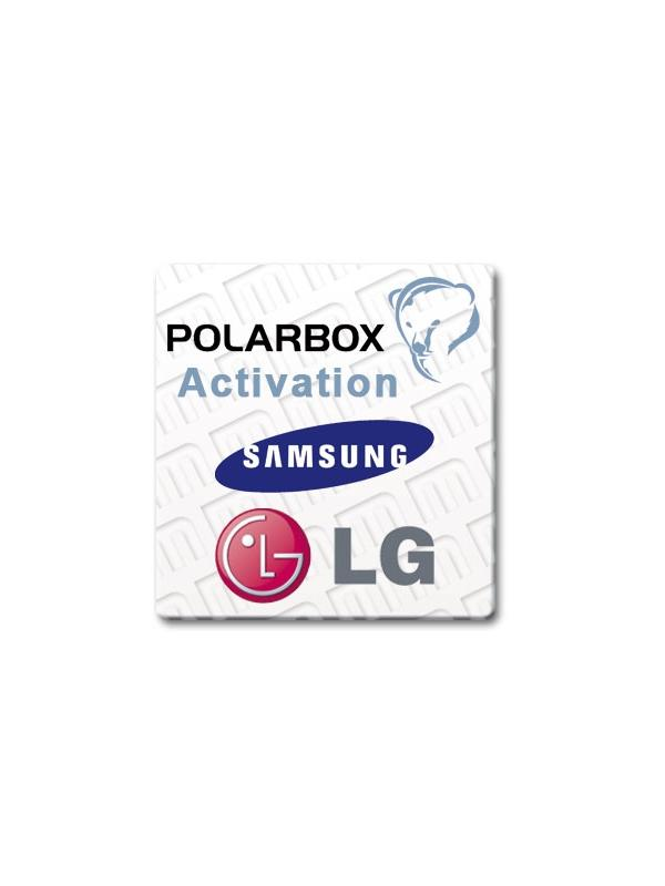 Samsung + LG Permanent Activation for Polar Box [License 1] - Enable in your Polar Box the FREE Unlocking of the latest LG and Samsung models with New Security! Once purchased this Activation, you will start to enjoy it within minutes of its Unlimited and Permanent usage for your Box! Without logs or credits!