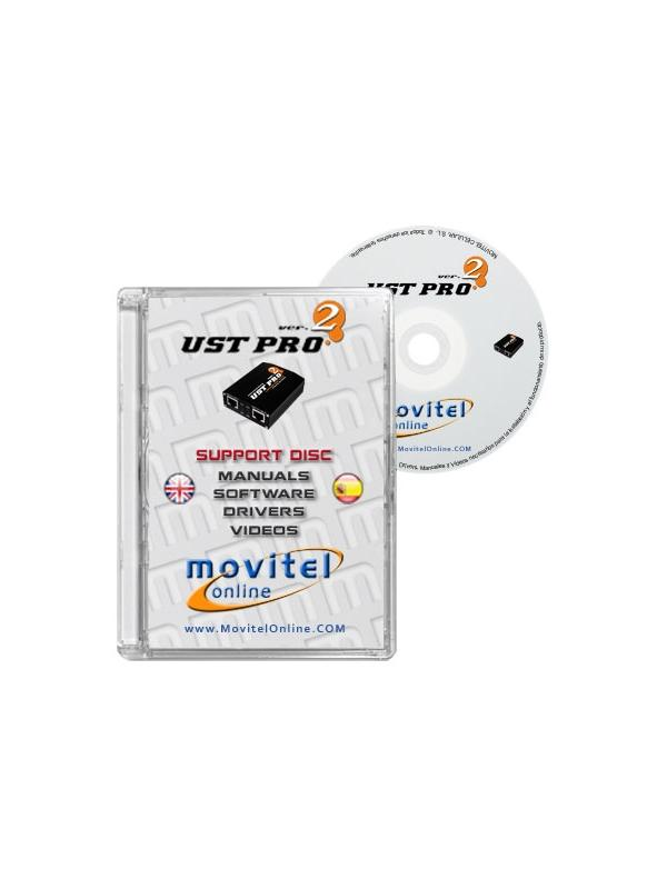 UST Pro 2 Box Support Disc with Manuals, Software and Videos - Disc entirely developed by our technical department with detailed instructions and complete manuals for the installation of your product. It also includes all the software and necessary drivers, as well explanatory videos of real procedures!