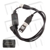 HD7 Kit Special Cable for XTC Clip - Special Y cable with microUSB connector for the XTC Clip. With it we will be able to unlock HTC cell phones with Windows Phone 7 such as the HD7 Shubert or the HD Mozart.
