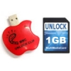 MMC Card Apple Unlock Clip - Adapter to reset the security code of your SD Card, MiniSD, MMC (Multimedia Card) and MicroSD very fast and efficient. No need to use a computer because it runs on a 9 volt battery (6LR61 type).