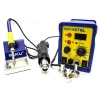 Digital 2 in 1 Soldering Station + Stand + 3 Air Nozzles - High Quality and Professinal Designed Station for soldering and desoldering for a wide range of components requiring precision. It is digitally controlled between 100 and 450 °C and the temperature is constant regardless of the selected air flow. It can be applied in any field of electronics such as mobile phones, computers, consoles, automotive, etc... and which can not be absent from any workshop or service center.