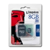 MicroSDHC 8GB [Class 4] Memory Card with SD Adapter -
