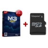 Pack of Pack M3i Zero Flash Cart  + microSD Card + Boot and Games Installed