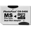 Adaptador para usar tarjetas microSD en aparatos que usan Memorias Memory Stick PRO Duo