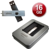 Exclusive USB 2.0 Mini METAL 16 Go USB Pendrive + Lanyard + Metal Gift Box - Stylish design, extra thin, super small size and weight! Totally metal with non-marking brushed finish and impressive presentation! The photos do not do justice to the high quality of the product! Ideal for gifts of any kind since it includes a nice aluminum case!
