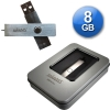Exclusive USB 2.0 Mini METAL 8 Go USB Pendrive + Lanyard + Metal Gift Box - Stylish design, extra thin, super small size and weight! Totally metal with non-marking brushed finish and impressive presentation! The photos do not do justice to the high quality of the product! Ideal for gifts of any kind since it includes a nice aluminum case!