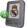 OFFICIAL USB 2.0 Real Madrid 4 Go USB Pendrive + Metal Gift Box - Official Product and Licensed by the Real Madrid Football Club! Impressive finish and presentation! The photos do not do justice to the high quality of the product! Ideal for gifts of any kind since it includes a nice aluminum case!