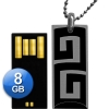 Exclusive TRENDY 8 Go USB 2.0 Pendrive + Pendant + Lanyard - Stylish design, extra thin, wearable and timeless, super small size and weight! Impressive finishing and presentation! The photos do not do justice to the high quality of the product! Ideal for gifts of all kinds!