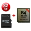 R4 XDS Black Box 2017 + 32 Gb microSD + Installed Games - Multimedia flash cart for Nintendo 2DS, New 3DS, New 3DS XL, 3DS, 3DS XL consoles even with firmware v11.2.0-35E. It includes a 32 GB microSD card with Games Installed and tested with your multimedia flash cart. It also works with the classic DS, DS Lite, DSi and DSi XL with v1.4.5E. We ship from Spain by 24 hours express courrier service.