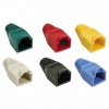RJ45 and RJ45 Rubber Protectors (20 pcs) - Protectors for RJ45 and RJ48 connectors, made of rubber and in various colors (green, red, yellow, blue, black and gray) to cover all your needs. Have a protector for the clip of the RJ45 connector, avoiding hitching or getting clip broken.