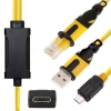Cable Dual Samsung B3210 / C3300K / S5620 / S7070 / Huawei G7010 RJ45+USB (Venom Series) -