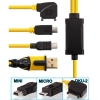 Nokia 3 in 1 USB Cable with DKU + miniUSB + microUSB heads - 