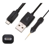 Cable SE Tool 3 Box & 4SE Dongle [microUSB Testpoint] - Special microUSB cable with testpoint needle for unlocking and repairing the SonyEricsson cell phones with MSM8225 Chipset models like NEO MT15, ARC LT15, R800 Play, MT11i Xperia Neo V, LT18i Arc S and ST18 Ray with SETool 3 Box and 4SE Dongle with easy and in a safe way. No need to solder or remove anything on the phones, simply click the needle at the point indicated in the photo of each handset model when the software promts to do it so.