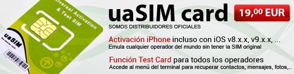 Tarjeta uaSIM Activación iPhone