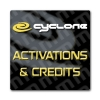 Cyclone Box Credits, Logs and Activations