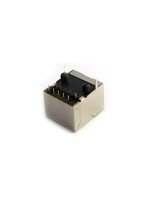 RJ48 10 pin Female Socket for Soldering into PCB - UTP10 pin RJ48 connector to solder into PCBs, especially recommended for those MT Box damaged by introducing UTP8 pin RJ45 cables.