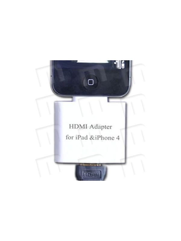 iPad / iPad 2 / iPhone 4 / iPod Touch 4G HDMI 1080p Adapter - The iPad Dock Connector to HDMI Adapter lets you connect your iPad WiFi or 3G, iPad 2 WiFi or 3G, iPhone 4 or iPod Touch 4G to a TV, monitor, projector, or LCD display that uses a HDMI connector or cable so you can watch slideshows and movies. And its HD Ready 1080p !!
