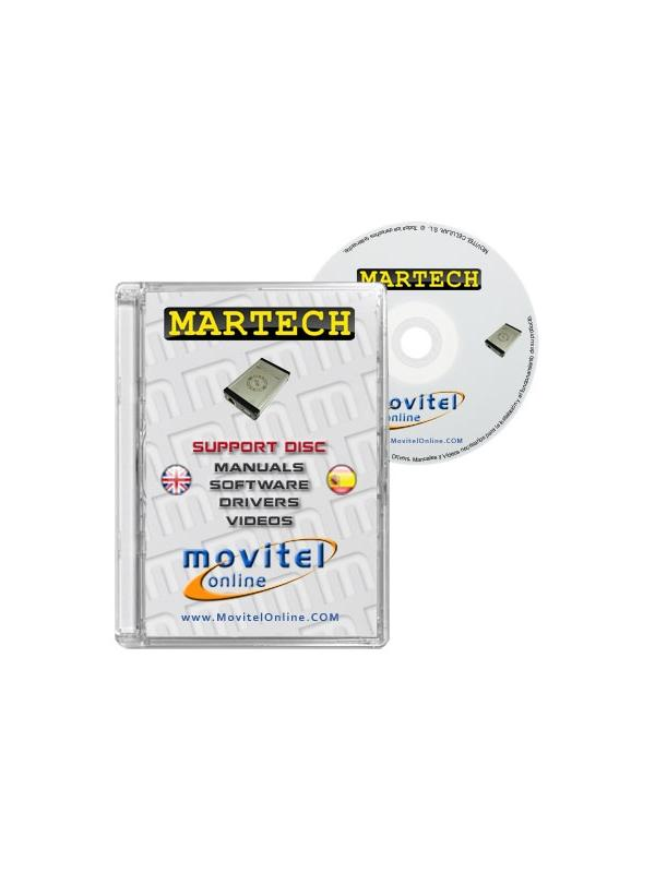 Martech Box Support Disc with Manuals, Software and Videos - Disc entirely developed by our technical department with detailed instructions and complete manuals for the installation of your product. It also includes all the software and necessary drivers, as well explanatory videos of real procedures!