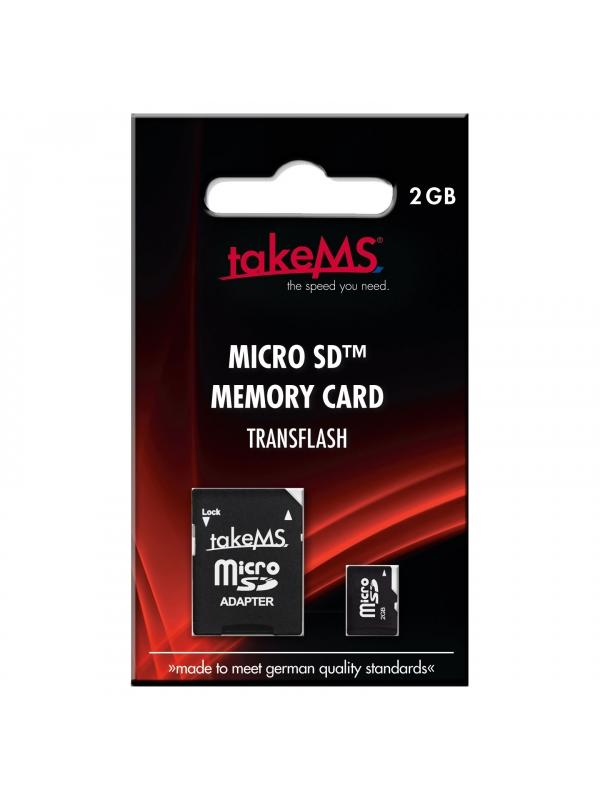 MicroSD 2GB Memory Card with SD Adapter -