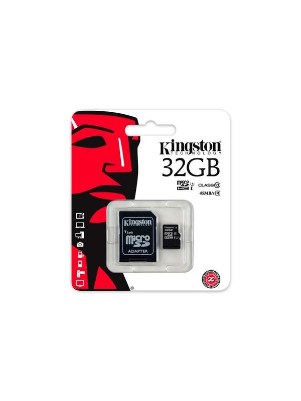 microSDHC 32 GB [Clase 10 UHS-I] con Adaptador SD - Tarjeta de memoria microSDHC / microSDXC Toshiba de 32 GB en formato blister y con adaptador SD incluido.