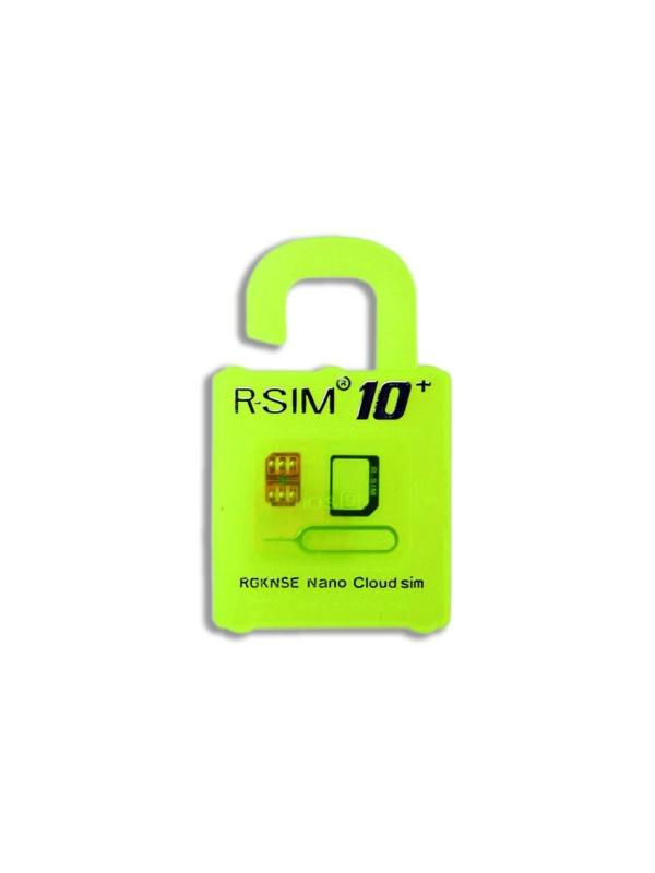 R-SIM 10+ Plus card for iPhone - New R-SIM 10+ Plus for unlock and activate the iPhone 4S / 5 / 5C / 5S / 6 / 6S with support for iOS v9.x.x and 3G and 4G networks. Use the SIM card from your favorite carrier in an iPhone locked to a different network operator.