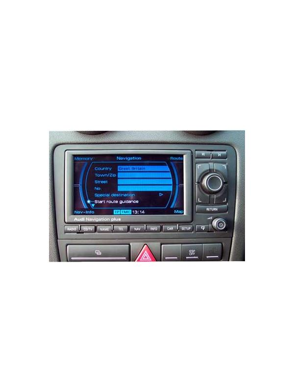 Audi RNS-E Navigation Plus 2018 CS [1 x DVD to choose] - Latest version of the map DVD update for the Audi RNS-E Navigation Plus navigation systems with folding screen and 2 SD card slots compatible with A3, S3, A4, S4, RS4, A6, S6, RS6, R8, TT, TTS and TT RS models.