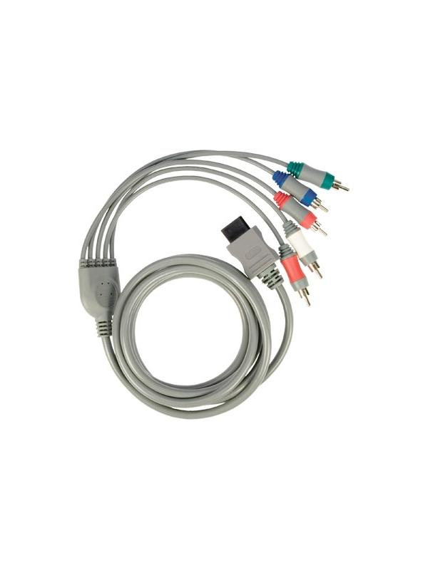 Audio / Video Component Cable for Nintendo Wii - Cable for connect your Nintendo Wii to TVs or monitors by Component! With this type of connection you will maximize your LCD or Plasma! It has 3 RCA connectors for video signal and 2 RCA connectors for stereo audio channels.
