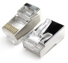 RJ48 Connector Crimp Shielded End Plug (10 pin) -